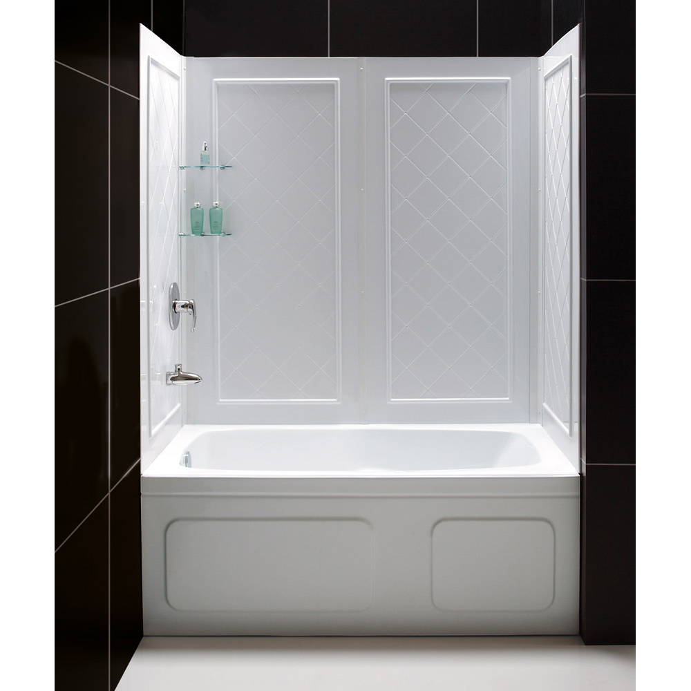 Shower Kits Shower Backwalls Amp Tray Combos Tub To Shower